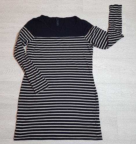 🔴TU Black and cream stripe long sleeve long top size 16