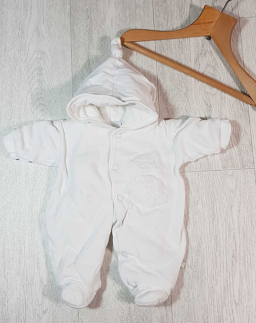 ◾Dandelion white snow suit. Tiny baby