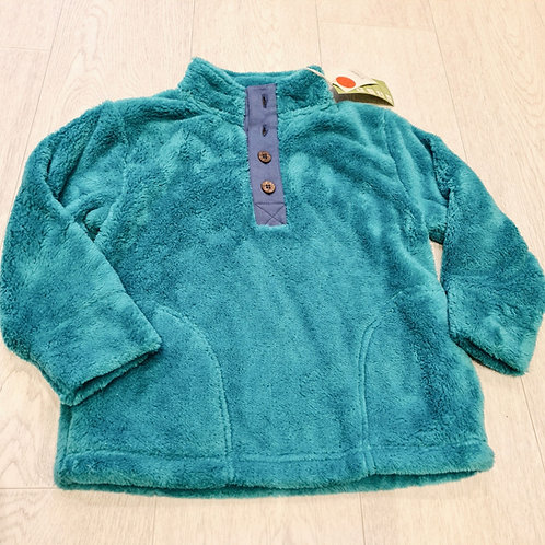 🍁Kite turquoise fleece top. 4yrs NWT