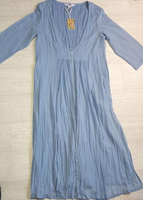 April Cornell blue damask dress. Size S