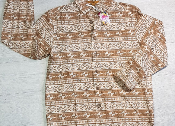 April Cornell patterned shirt. Size Small
