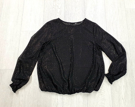 Black lightweight spotty blouse