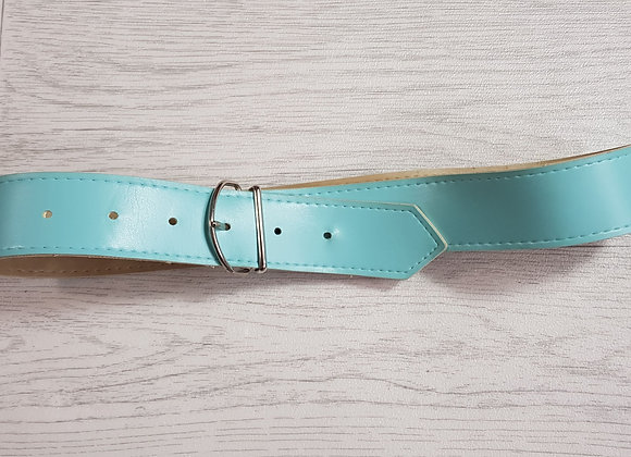 Child's turquoise wide belt.