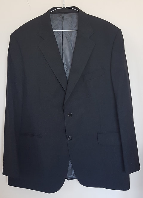 M&S. Black blazer with padded shoulders. Size Medium.