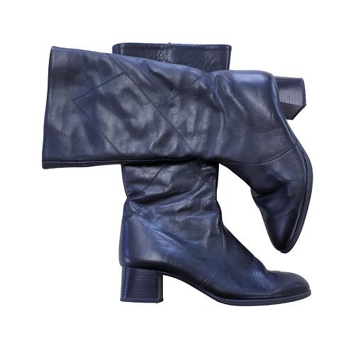 Jenny Black fleece lined leather calf high boots. Uk 8