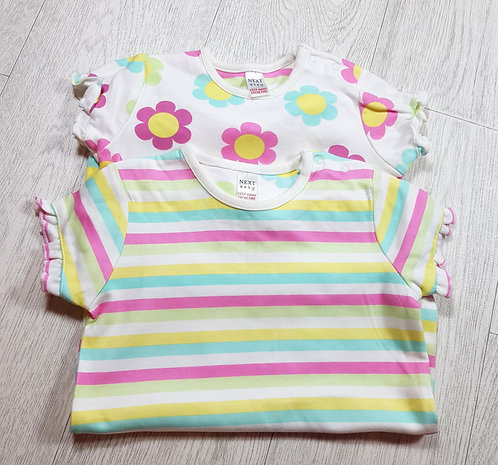 🌈Next girls rainbow and flower romper set size 6-9 months excellent condition