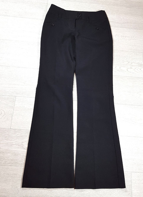 🚩New look smart black boot-cut trousers size 6