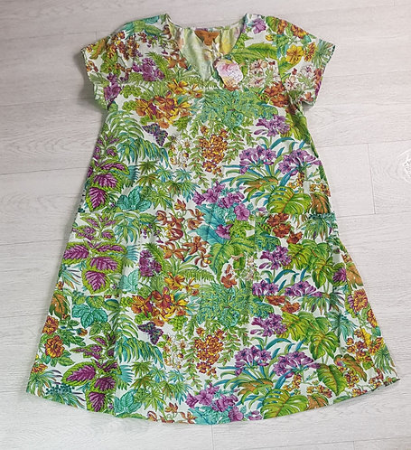 April Cornell Multi forest dress. Size Small