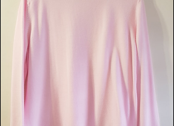BONMARCHE Pale pink thin knit sweater with button cuffs size M