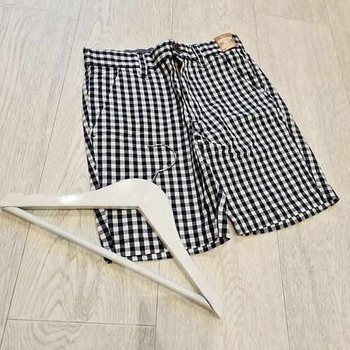 🍁Next navy check shorts. 8yrs NWT