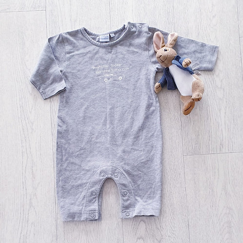 🦝Blooming Marvellous grey sleepsuit. 1-3m