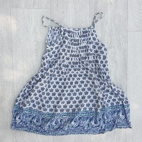 🐦Next blue mix summer dress. 6yrs