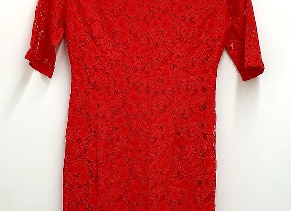 Body Flirt red lace dress. Uk 12