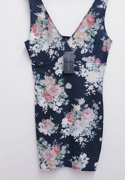 New Look black sparkly floral dress. Size 12 NWT