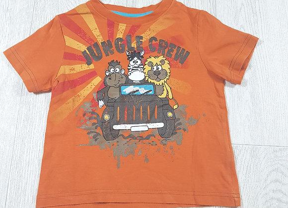 🌈Cherokee boys orange jungle crew t shirt size 12-18 months