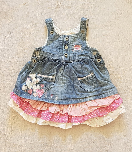 MORRIS MOUSE Denim dress. 3-6m