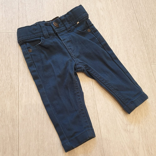 🧩Denim Co dark blue skinny jeans. 0-3m