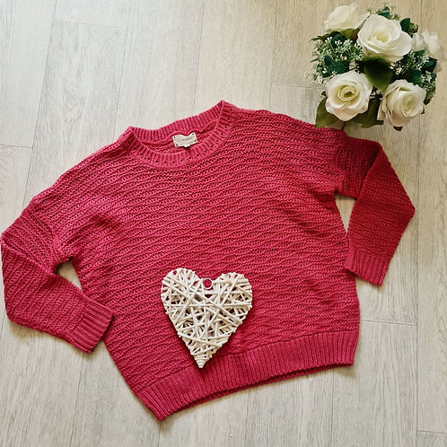 🍁Next pink knit sweater. Size 6