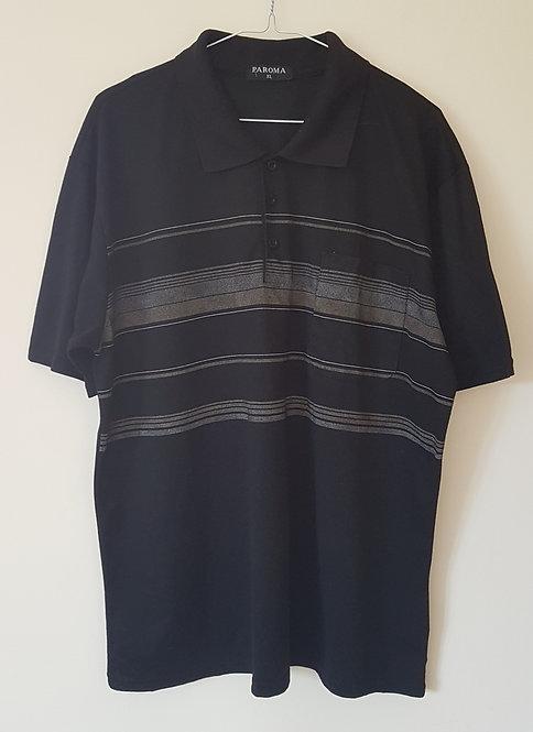 PAROMA. Black polo shirt. Size XL.