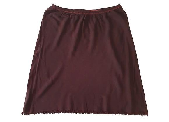 F&F dark burgundy mix skirt