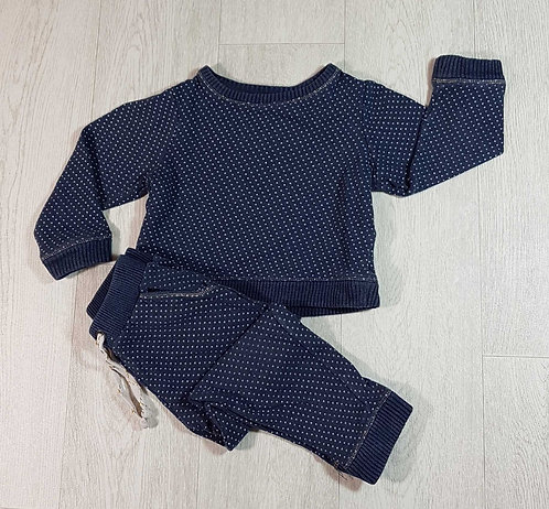 ◽Mothercare navy spotty jogging suit. 2-3yrs