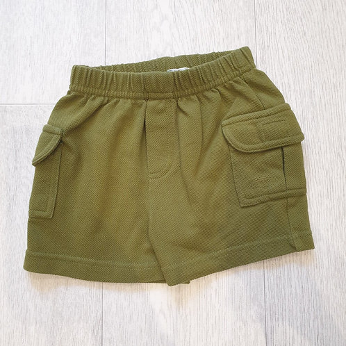 🧸Next green shorts. 3-6months