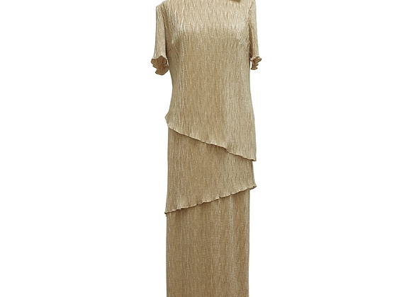 Collectables by Richard Roberts gold mixed layer dress. Uk 14 NWT