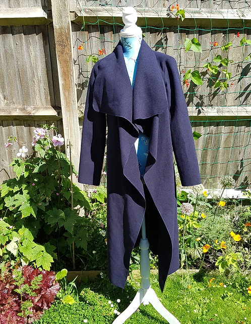 Missguided navy open waterfall jacket. Size 8