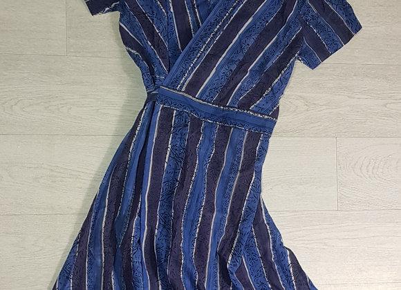 Culture Vulture blue wrap dress. Size M