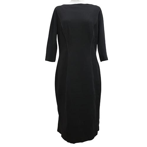 Gok for Tu Black crop sleeve dress. Uk 18