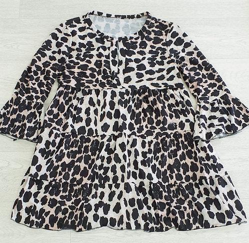 Animal print flared tunic. Size S NWOT