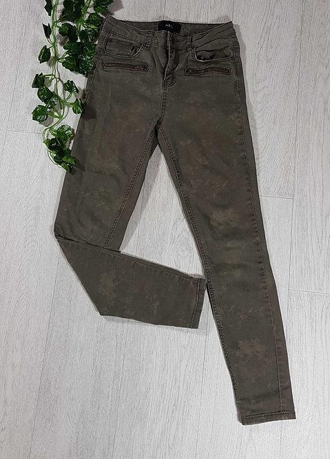 ◾A&G khaki camo skinny jeans. XS
