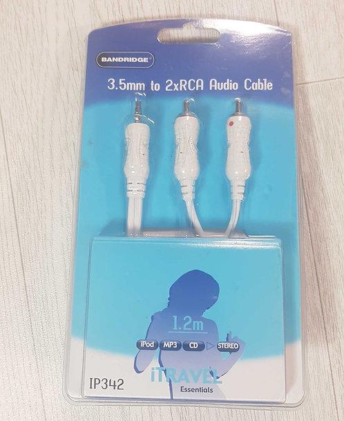 Banbridge 3.5mm to 2xRCA Audio cable NEW
