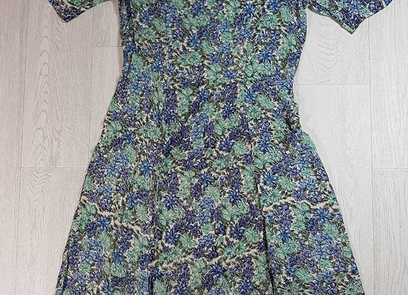 ◾Double TWO Woman green/blue floral dress. Size 12 NWT