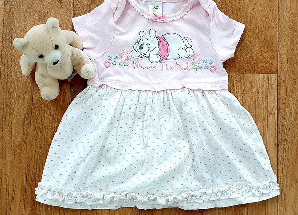 Disney Winnie The Pooh dress with under vest.  6-9m