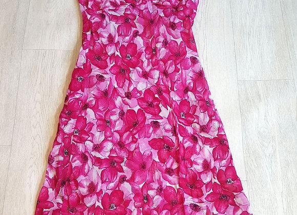 🔴Debenhams fuschia pink chiffon dress size 14