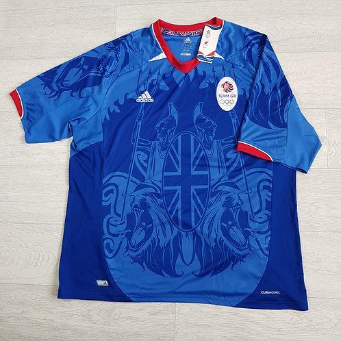 Adidas blue clima cool t-shirt. 2XL NWT