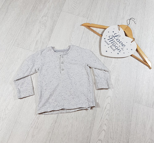 🐠George boys grey long sleeved button front top 9 -12 months