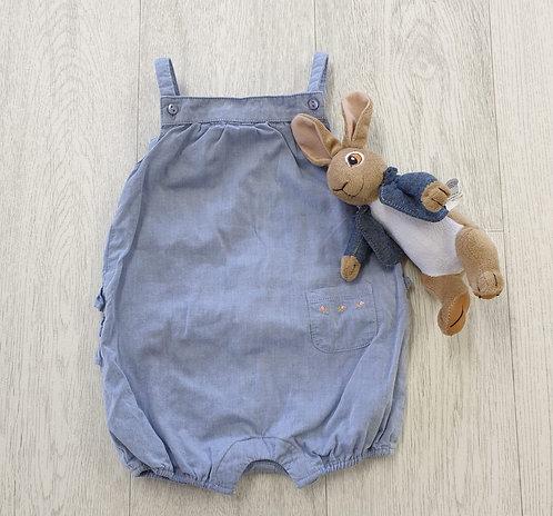 Blue summer romper suit. 3-6m