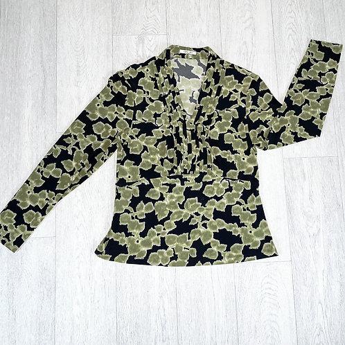 Artigiano leaf print blouse. Uk 14