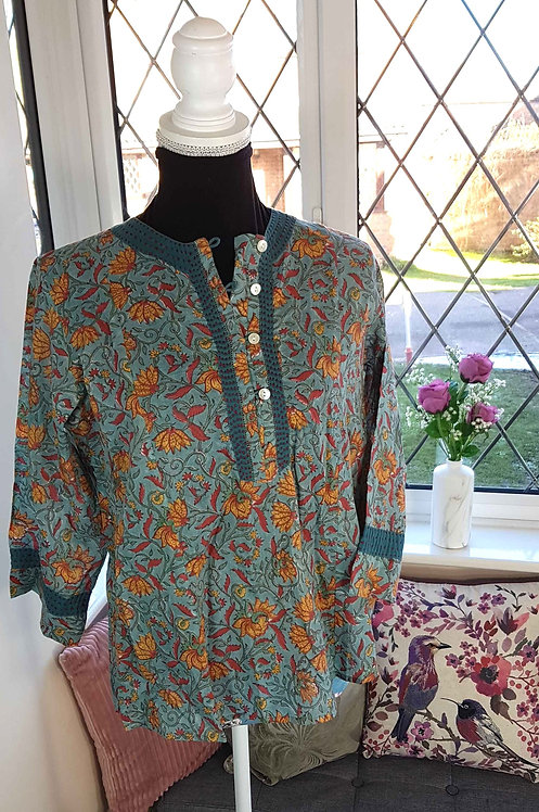 ◾Museum Selection cotton blouse. Size M NWT