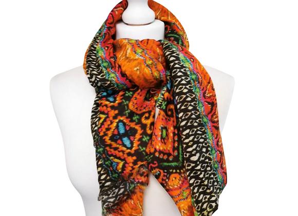 Colourful scarf.