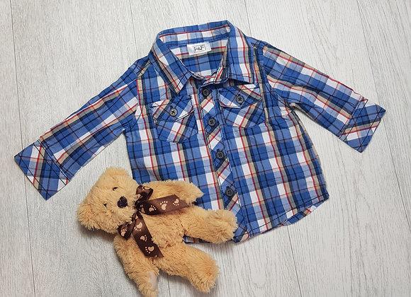 🔶️F&F blue tartan button down shirt size up to 3 months
