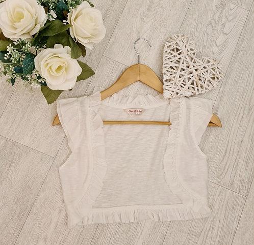 💜Miss Selfridge cream shoulder cover. Size 8