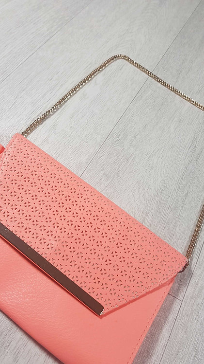 ◾Atmosphere Bright peach handbag. 24x26cm approx