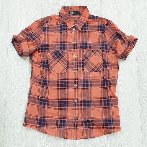 BPC orange check shirt. Size 10