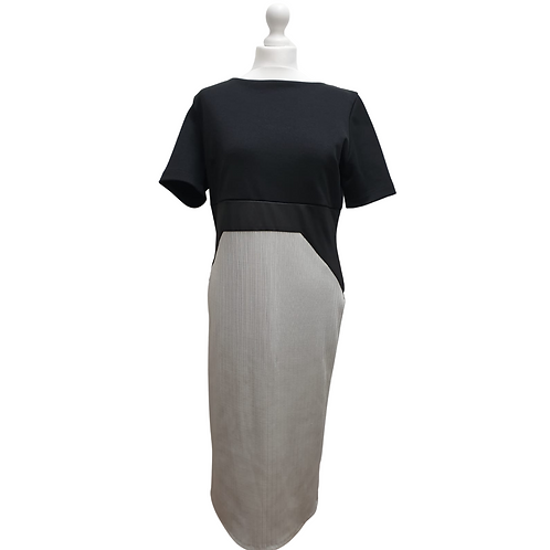 Amy Child's Collection black/grey mix dress. Uk 18