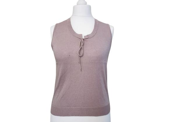 Artigiano purple knit sleeveless top. Uk 16