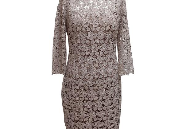 Cachet lace dress with under slip. Uk 10