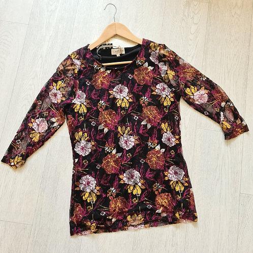 🍁Ladies Originals ¾ length sleeve lace boho top. Size 12 NWT